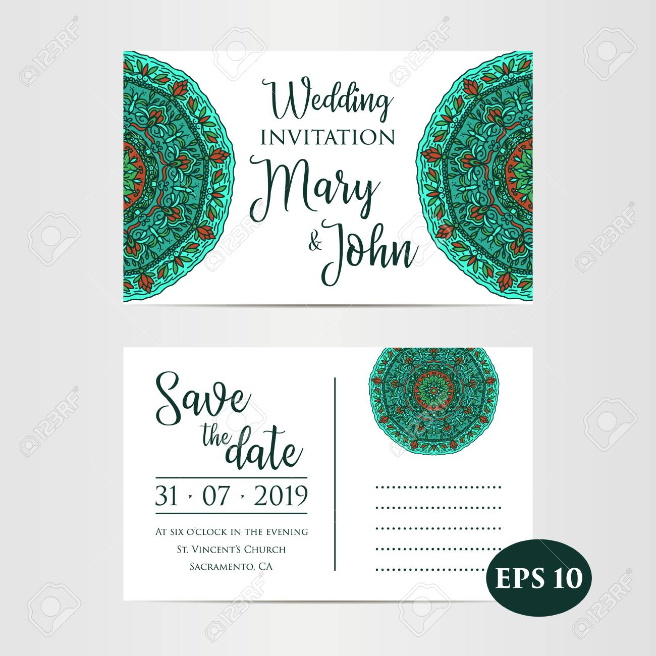 save the date layouts