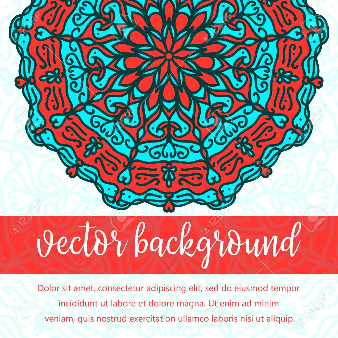 square invite template vector invitation with mandala design