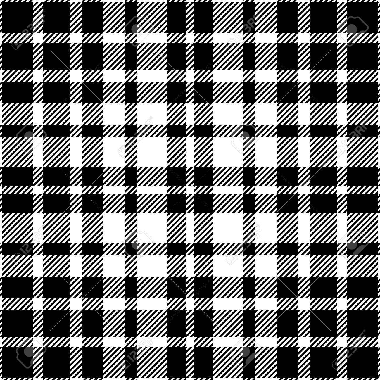 691702dae Modelo inconsútil de la tela escocesa de tartán en blanco y negro.
