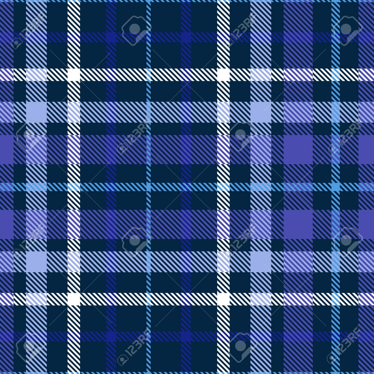 Plaid Pattern In Shades Of Blue Indigo Violet And White Seamless Royalty Free Cliparts Vectors And Stock Illustration Image 121997292