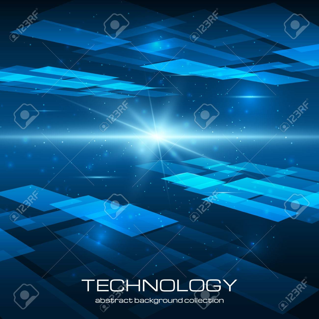 Abstract yellow technology background with bright flare. Vector illustration. Stock Vector - 25426132