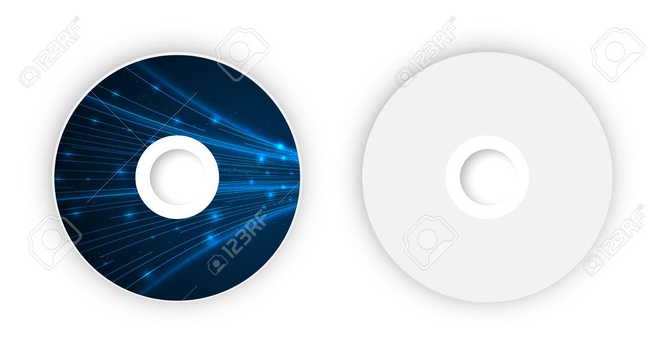 vector cd template illustration for your business artwork royalty