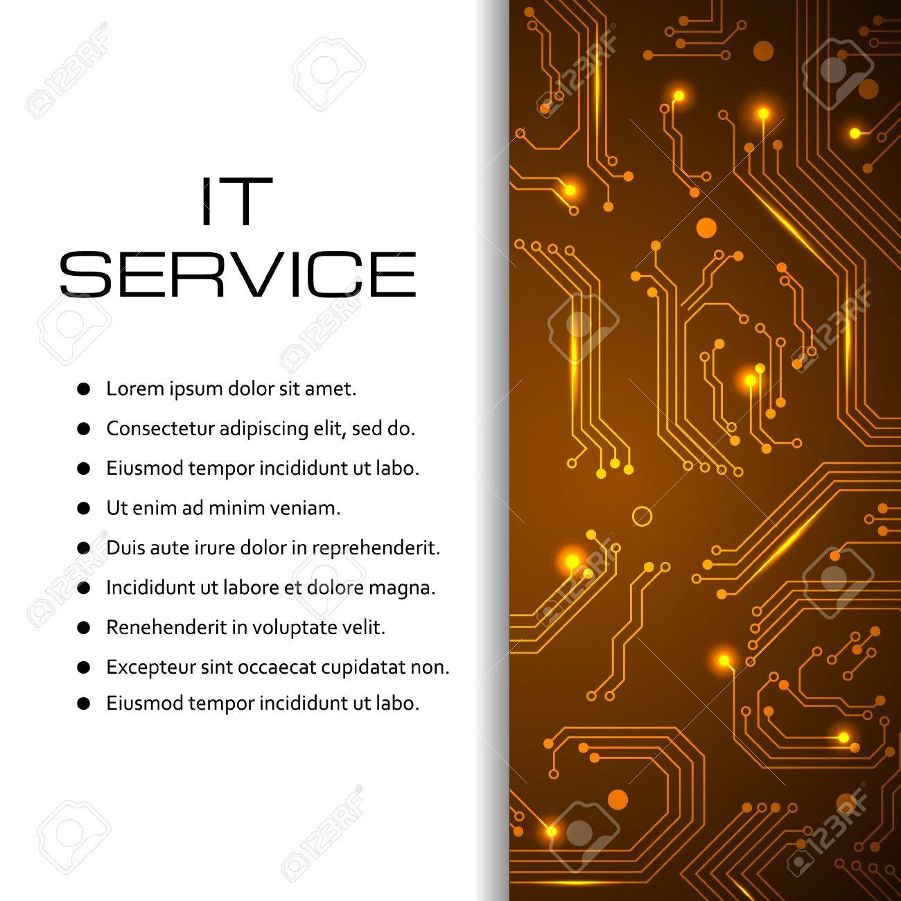 IT Service Banner Can Be Used For Page Website Web Design - Price list brochure template