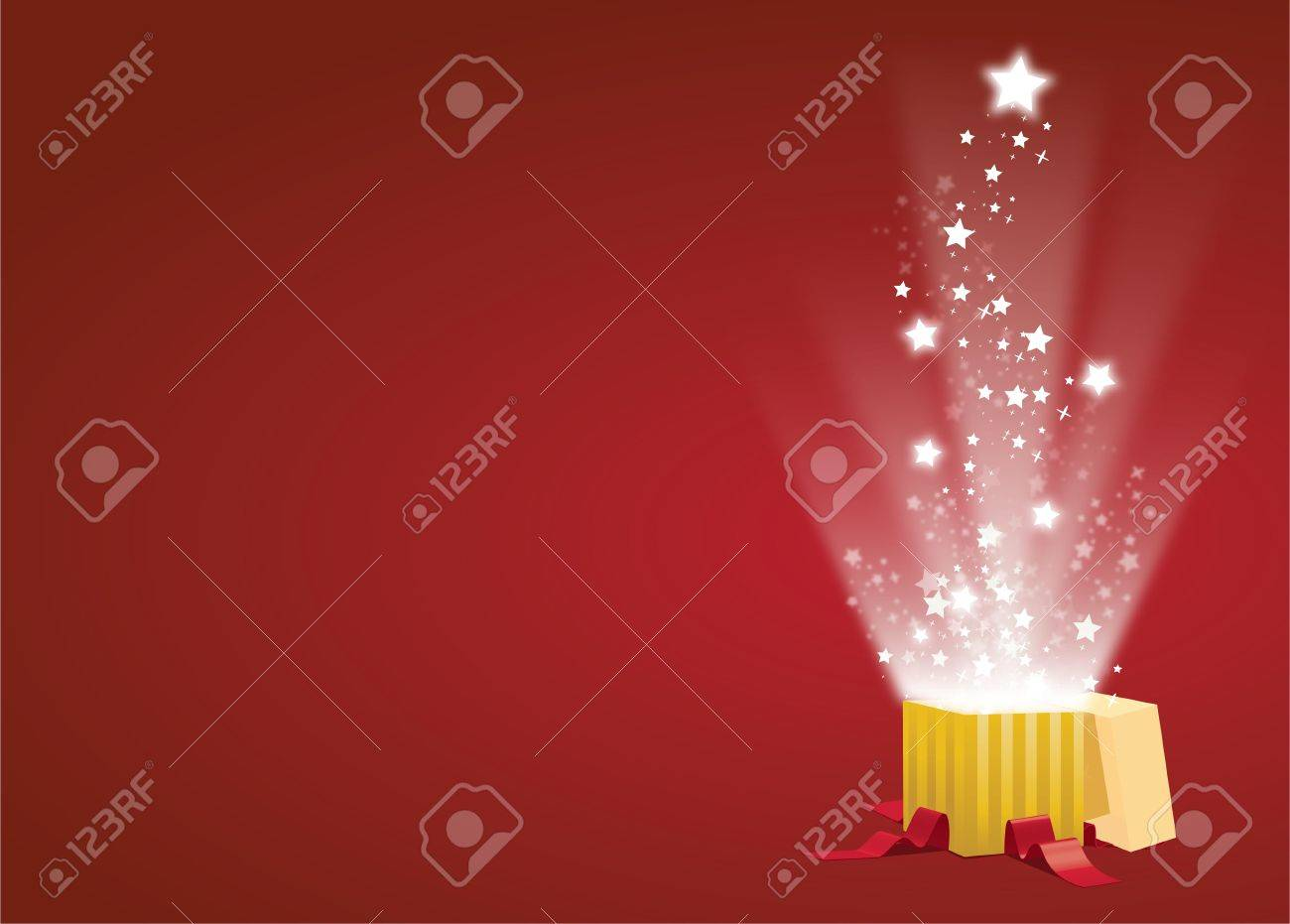 Vector Christmas Gift Opening with Surprise Stock Vector - 11218830