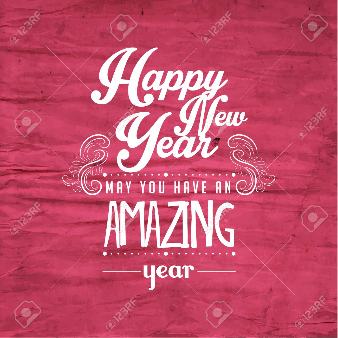 happy new year greetings quote vector design royalty cliparts