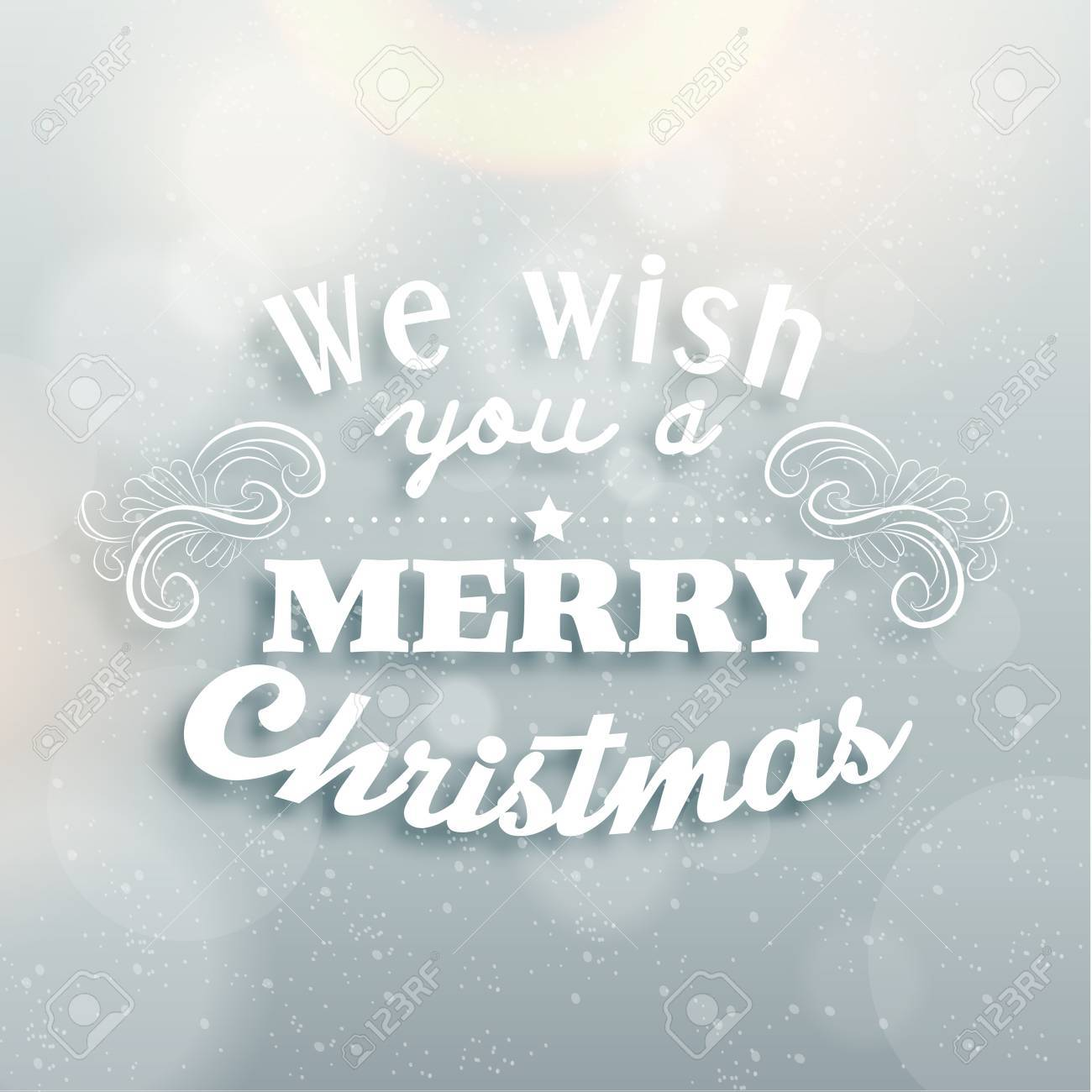 Merry Christmas Season Greetings Quote Vector Design Royalty Free