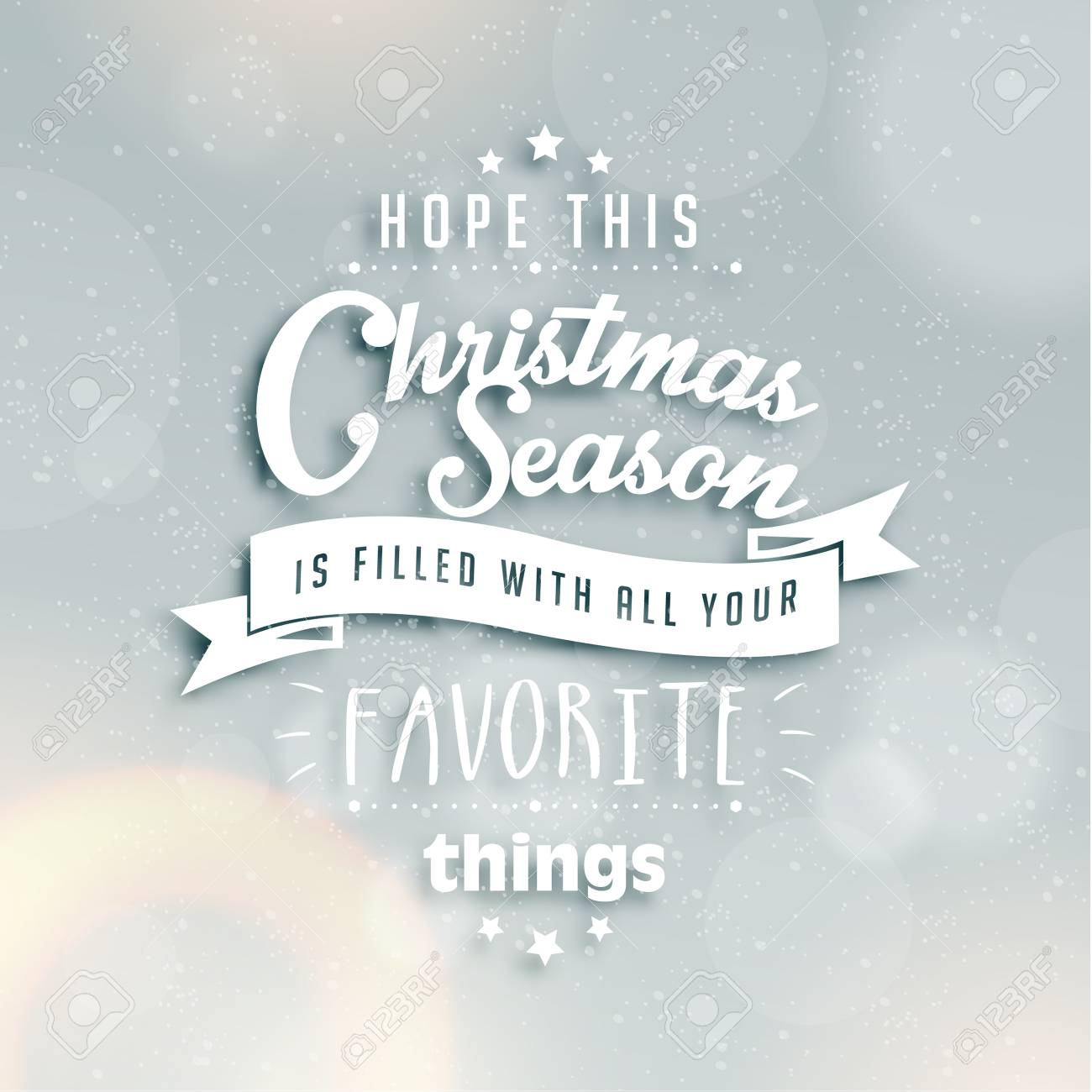 Standard Weihnachtsgrüße.Stock Photo
