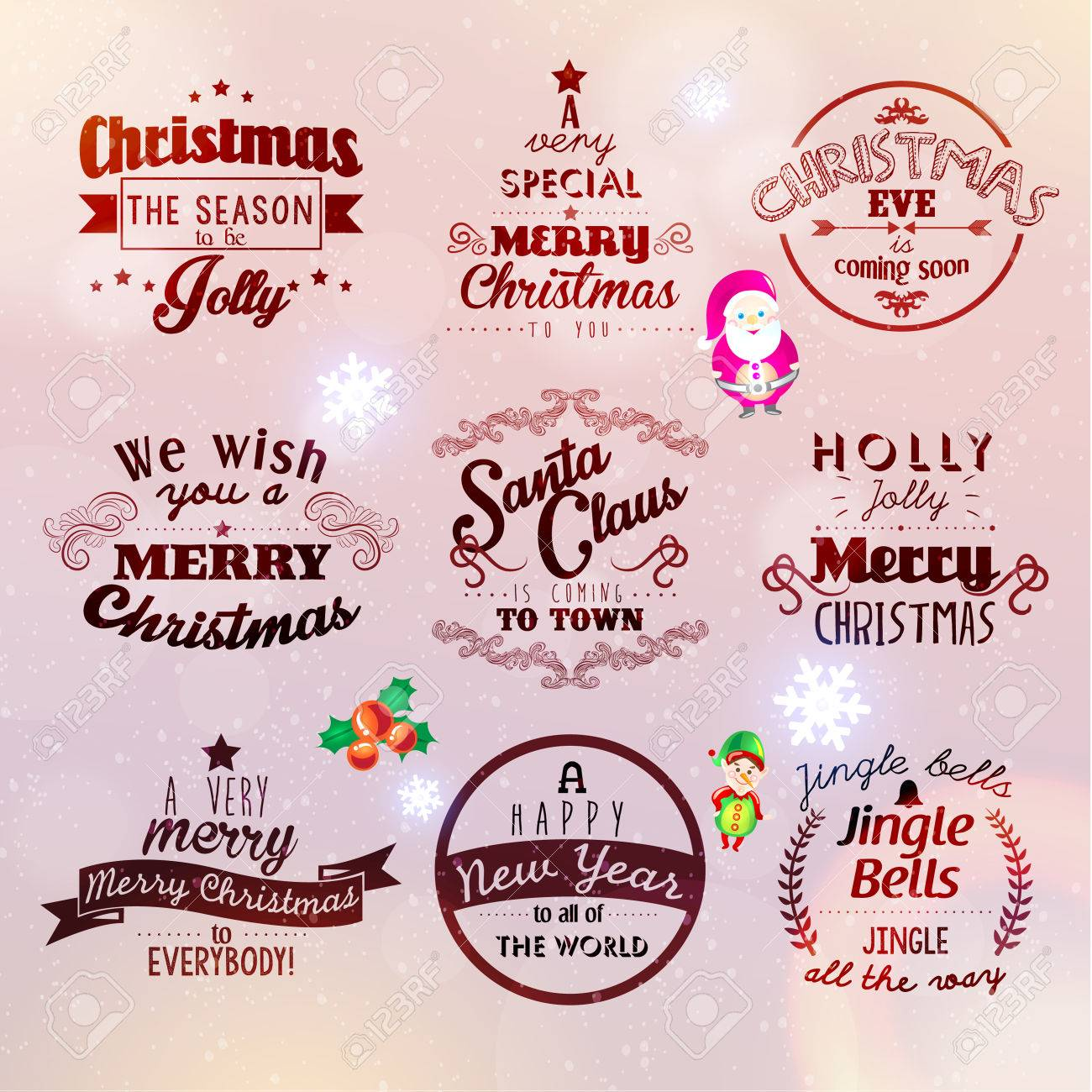 Merry christmas and happy new year 2015 season greetings quote merry christmas and happy new year 2015 season greetings quote vector design stock vector 33533219 m4hsunfo
