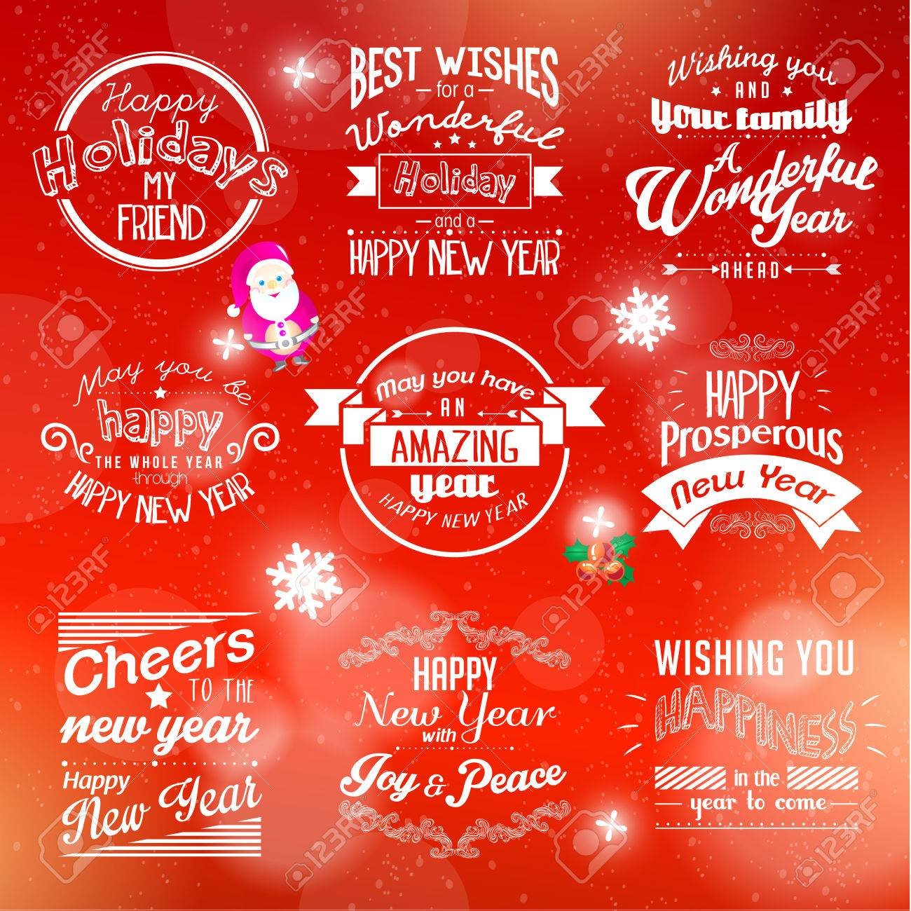 Merry christmas and happy new year 2015 season greetings quote merry christmas and happy new year 2015 season greetings quote vector design stock vector 33533222 kristyandbryce Choice Image