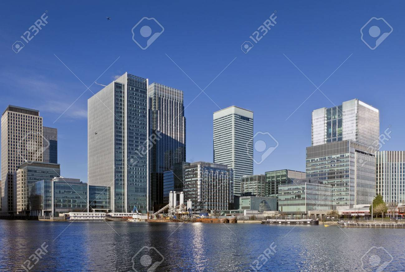 Canary Wharf, London  This view includes: Credit Suisse, Morgan