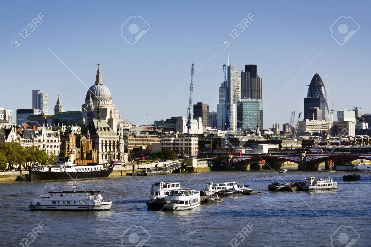 City Of London View From Waterloo Bridge This View Includes