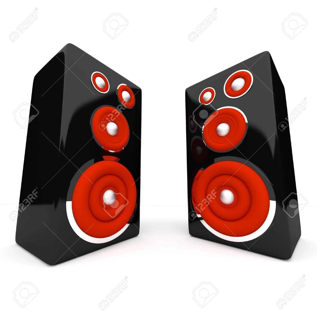 Speakers on white background Stock Photo - 17530618
