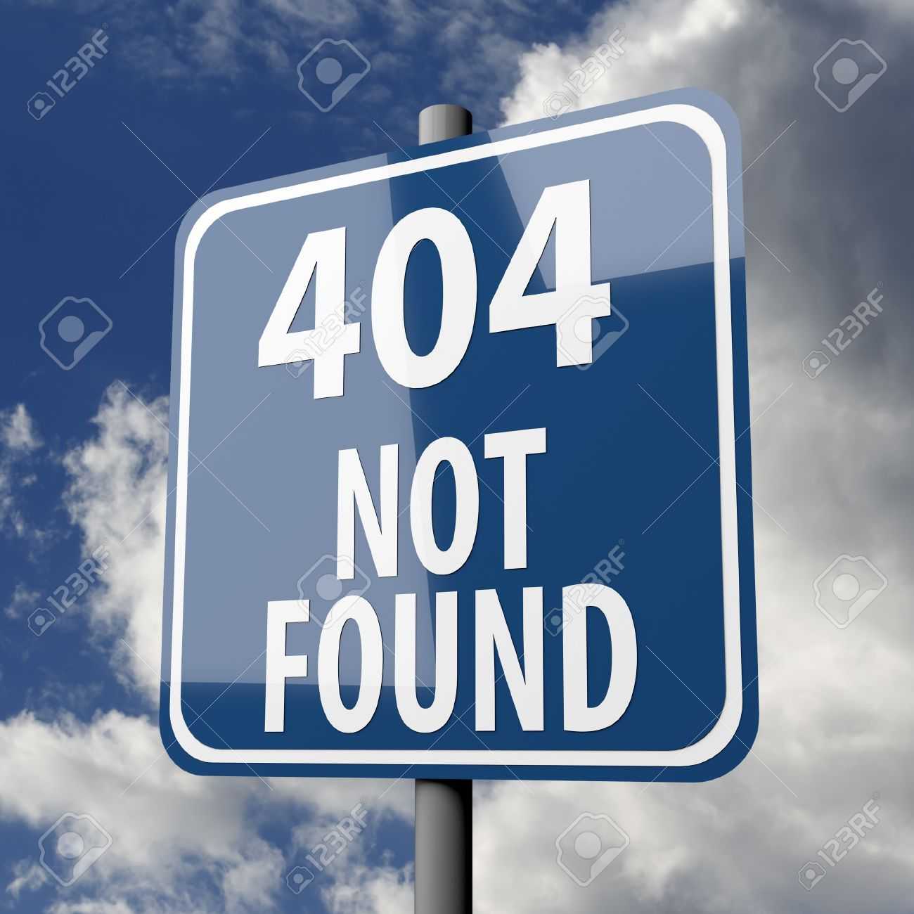 Background image 404 - Road Sign Blue With Words 404 Not Found On Blue Sky Background Stock Photo 20071260