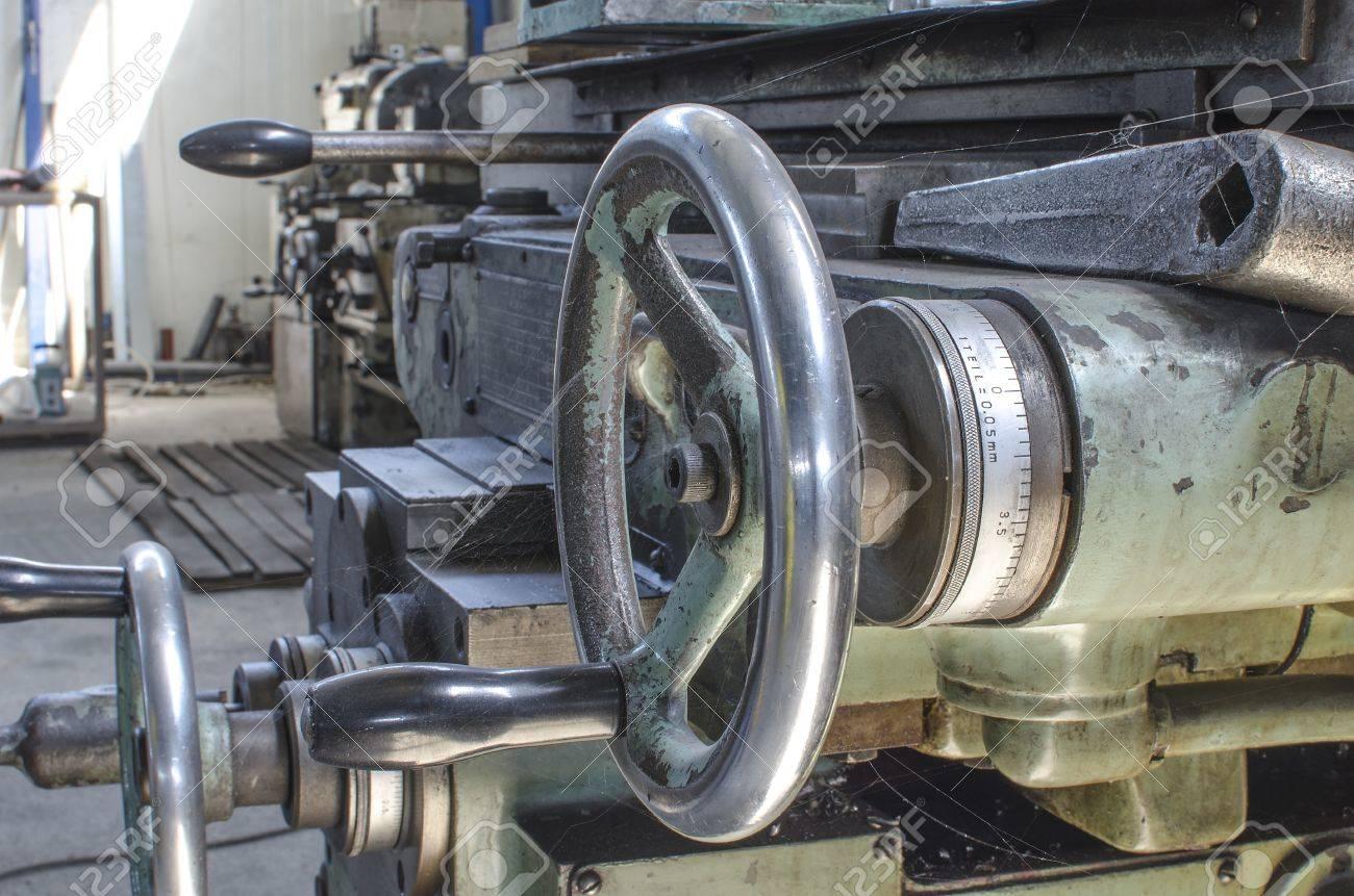 old lathe machine Stock Photo - 21892914