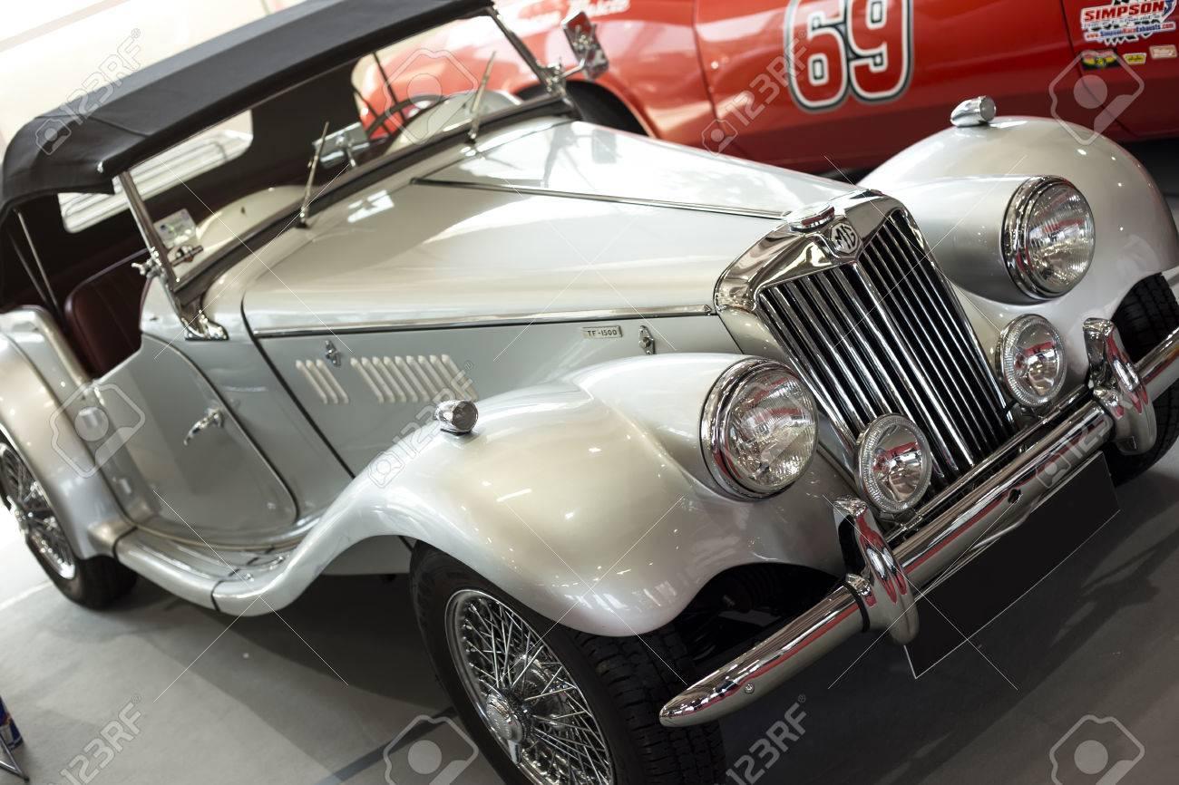 BELGRADE MARCH Oldtimer MG Car On BG Car Show Stock Photo - Mg car show