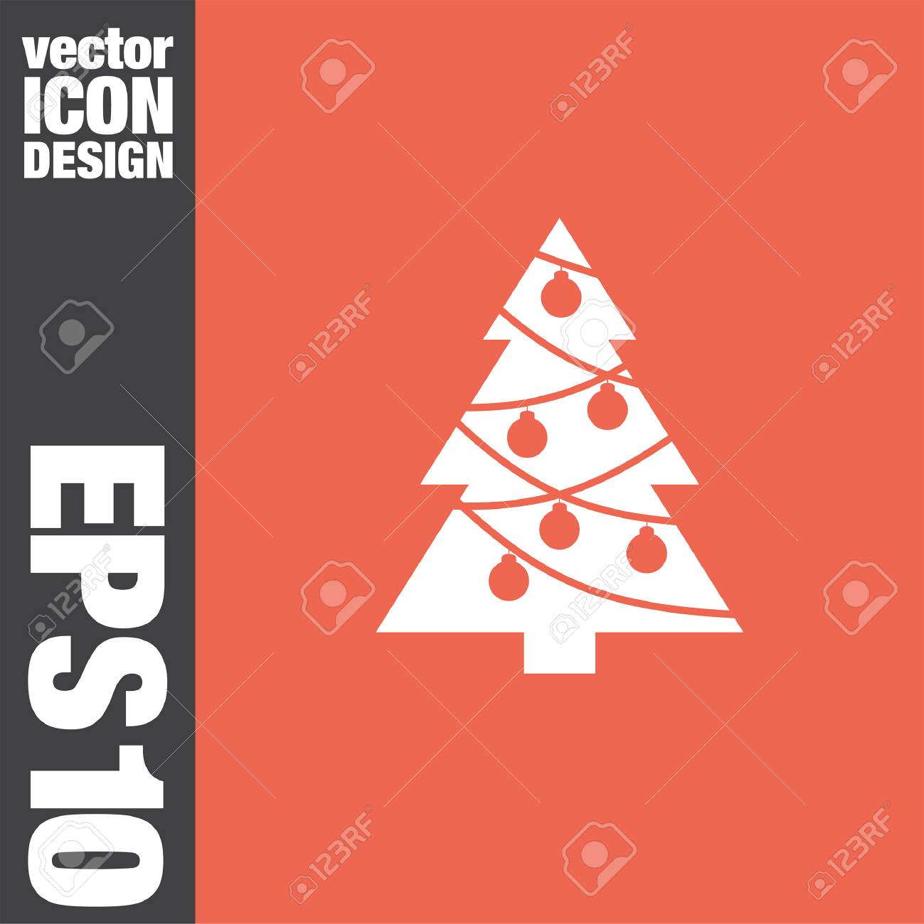 Christmas Tree Vector Icon Royalty Free Cliparts Vectors And Stock