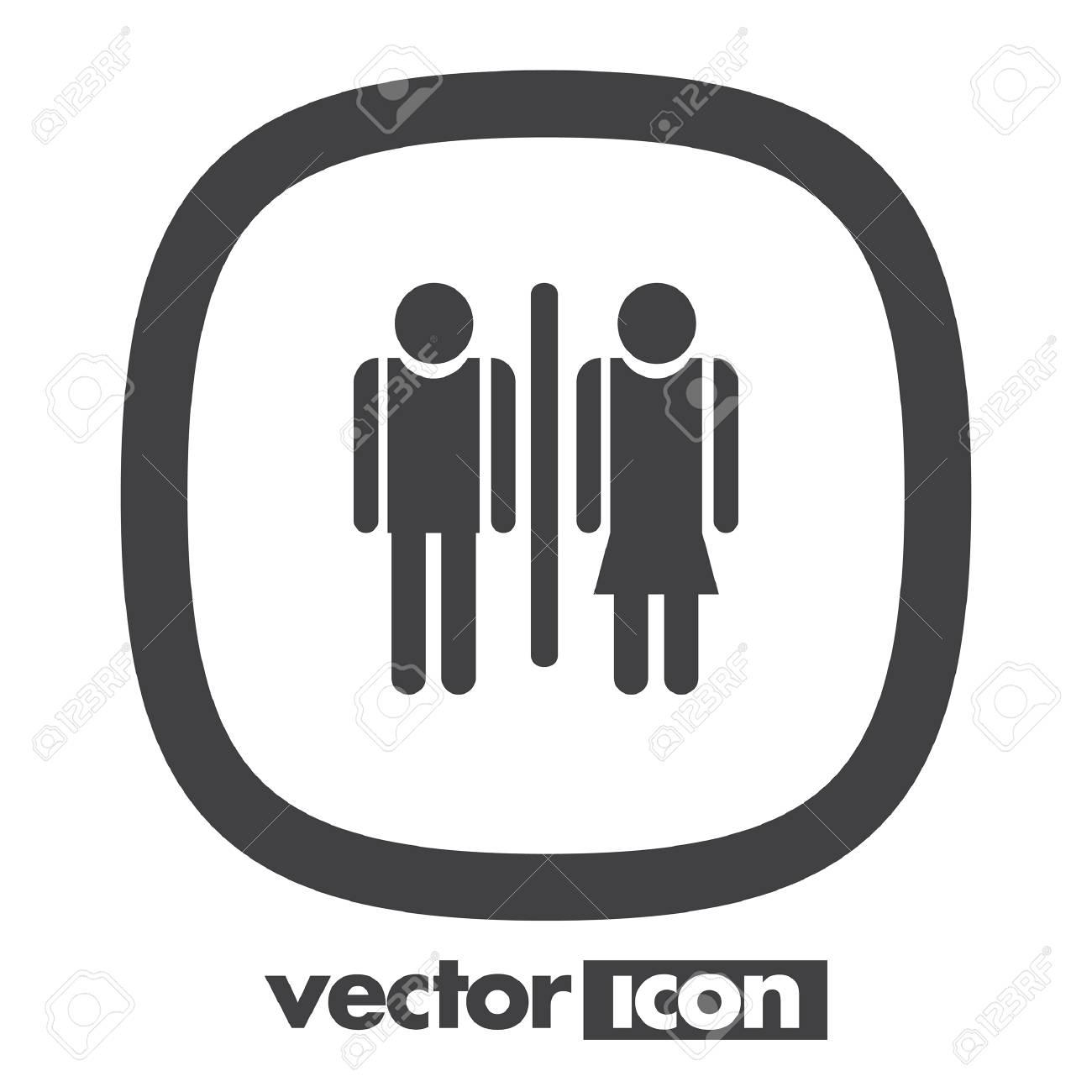 Icono De Hombre Y Mujer Wc Vector Ilustraciones Vectoriales Clip