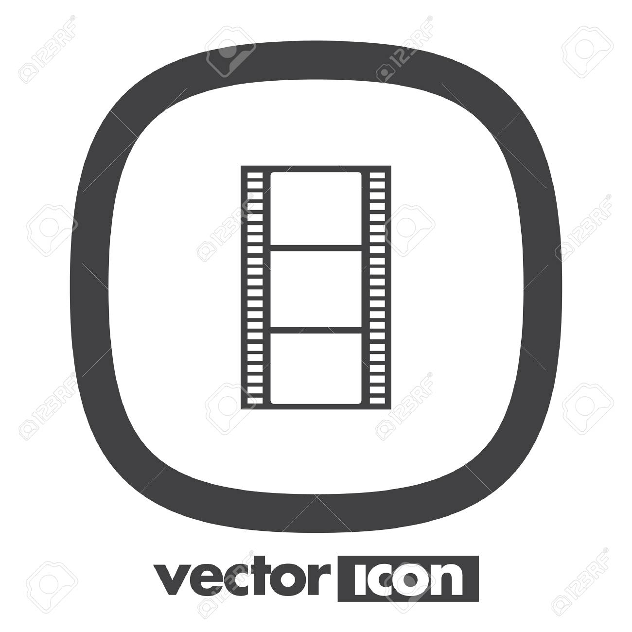 Movie Film Strip Vector Icon Royalty Free Cliparts Vectors And