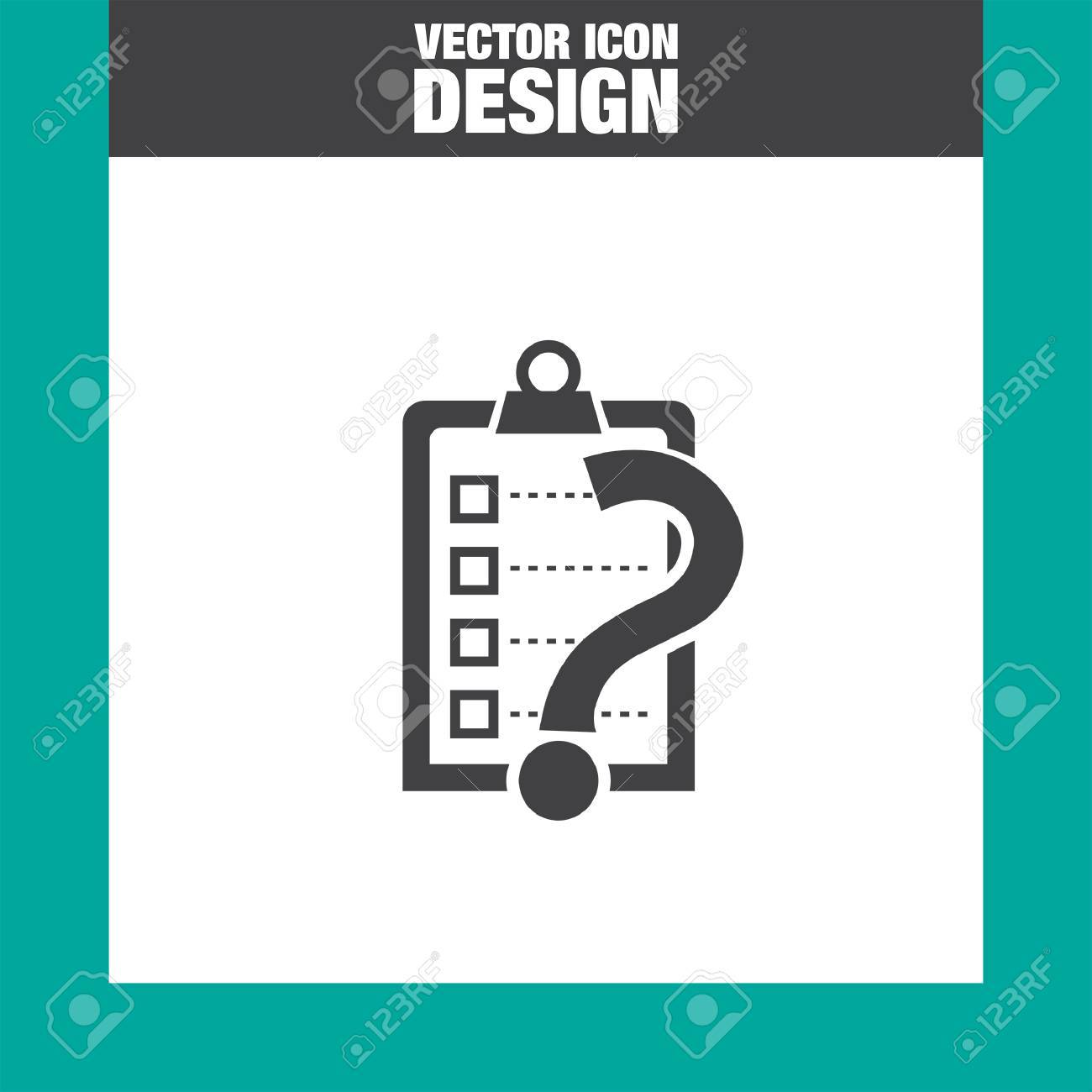 check list question mark vector icon royalty cliparts vector check list question mark vector icon
