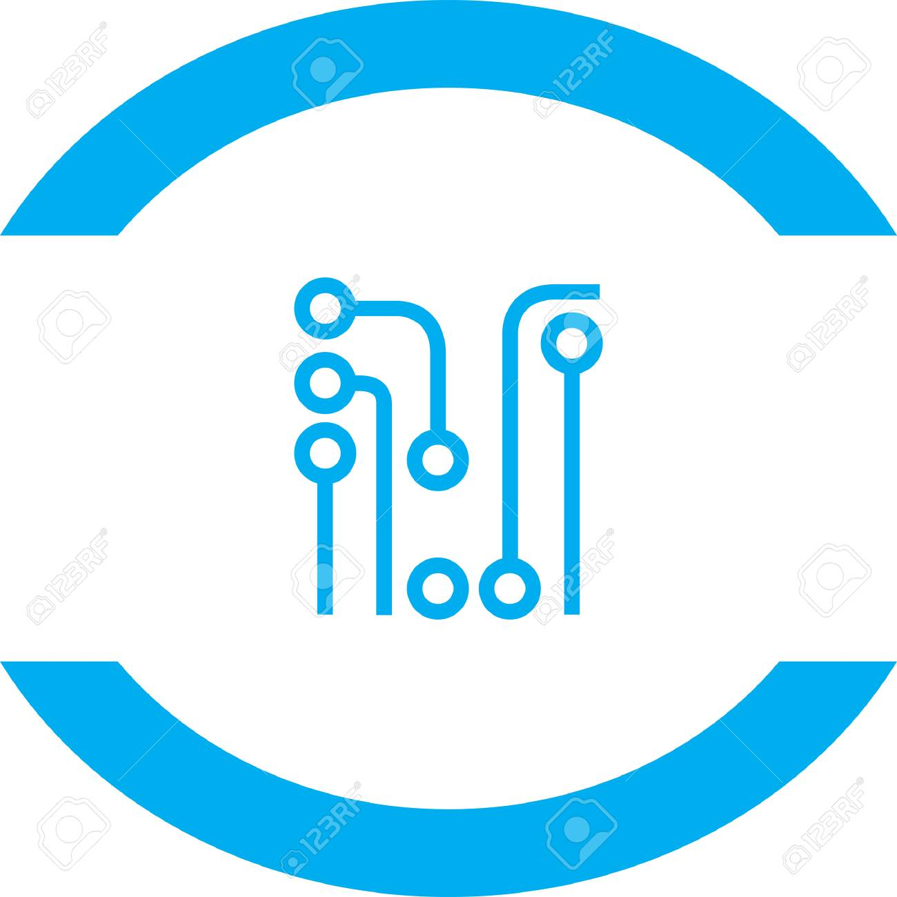 circuit board vector icon royalty free cliparts vectors and stock rh 123rf com circuit board vector blue circuit board vector graphics