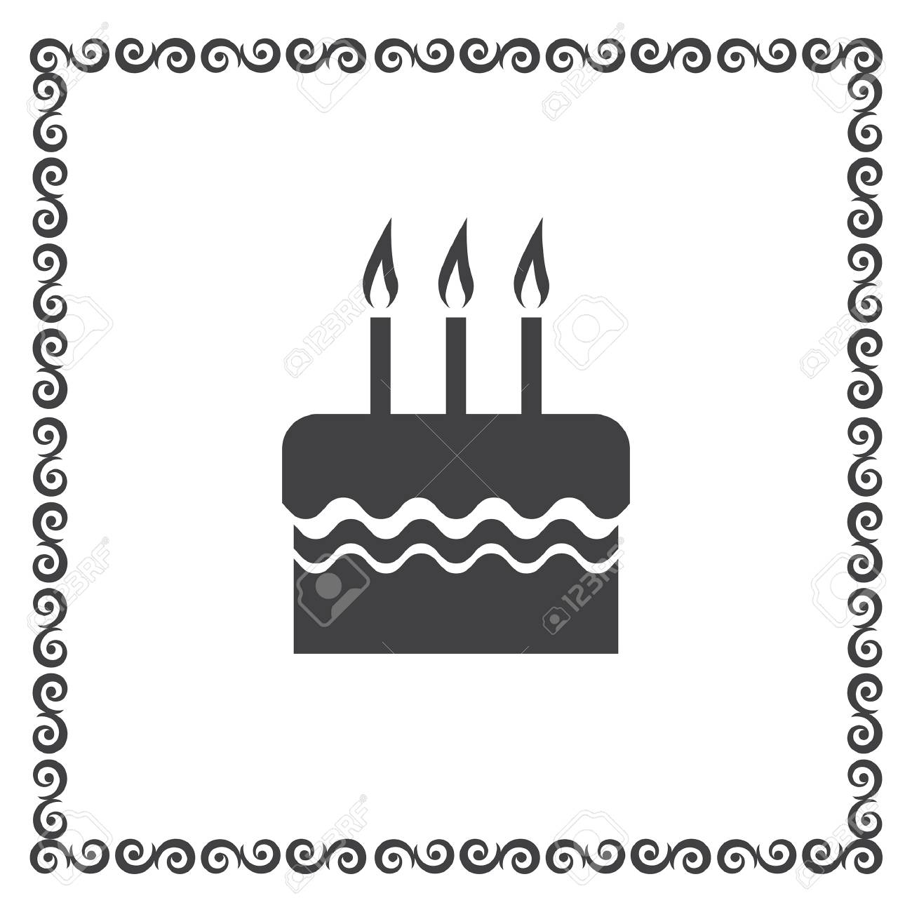 Birthday Cake Vector Icon Royalty Free Cliparts Vectors And Stock