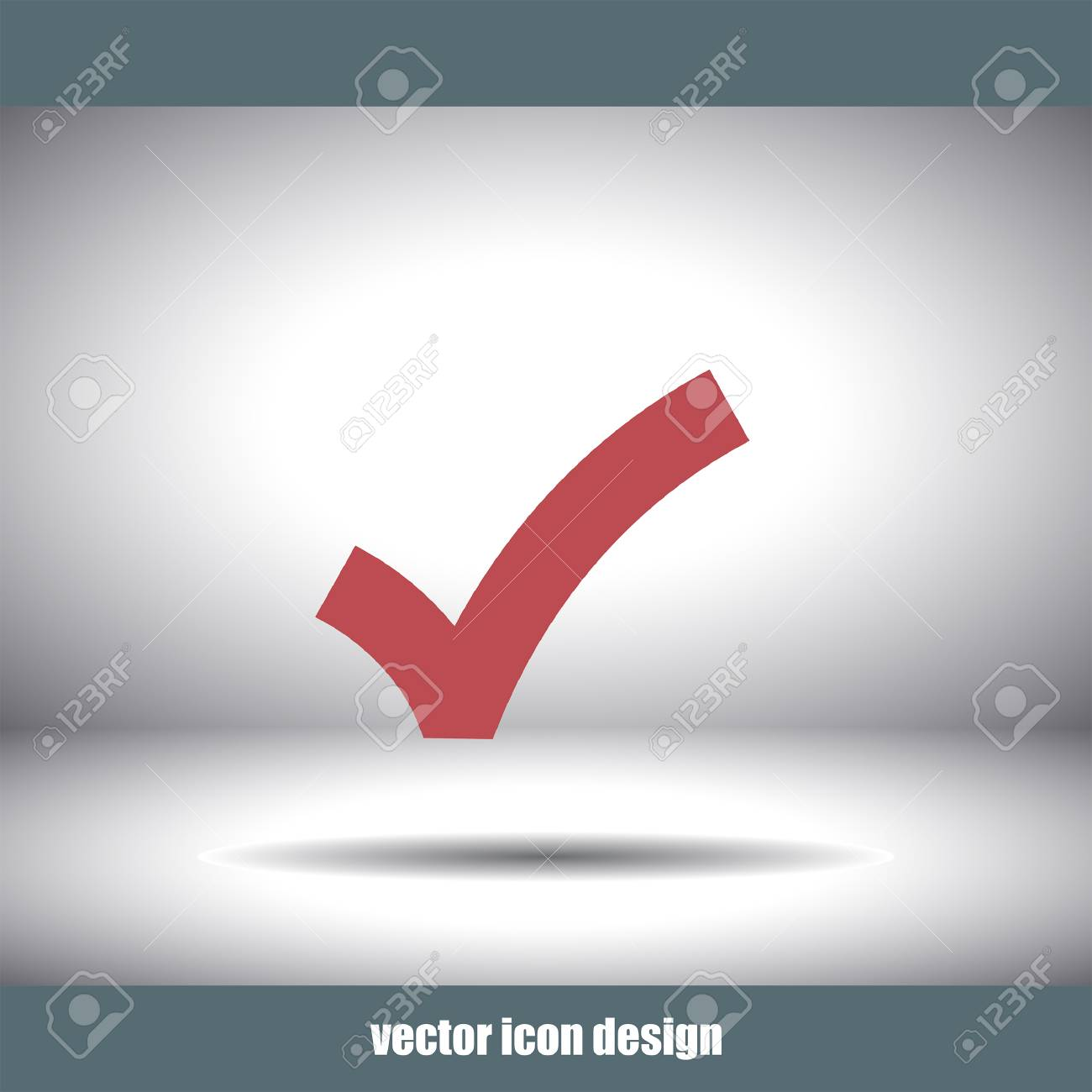 Ok Sign Checkmark Vector Icon Royalty Free Cliparts Vectors And