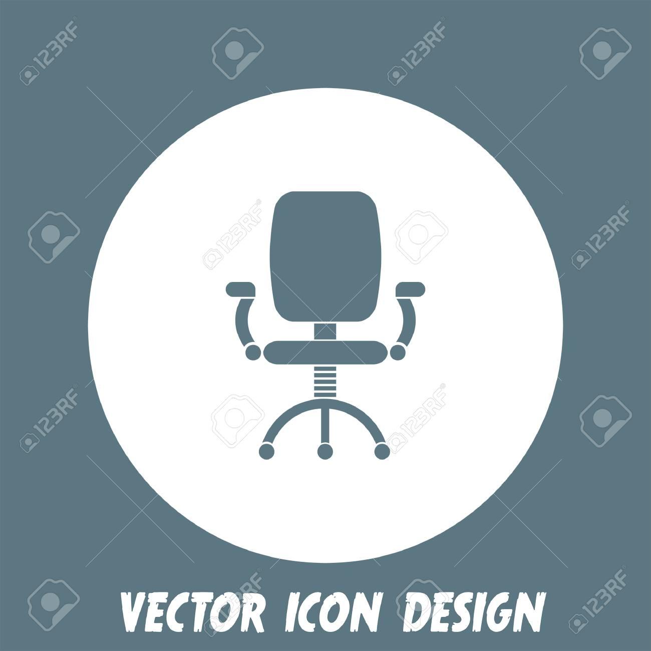 Vettoriale Sedia Da Ufficio Vector Icon Image 38056551.