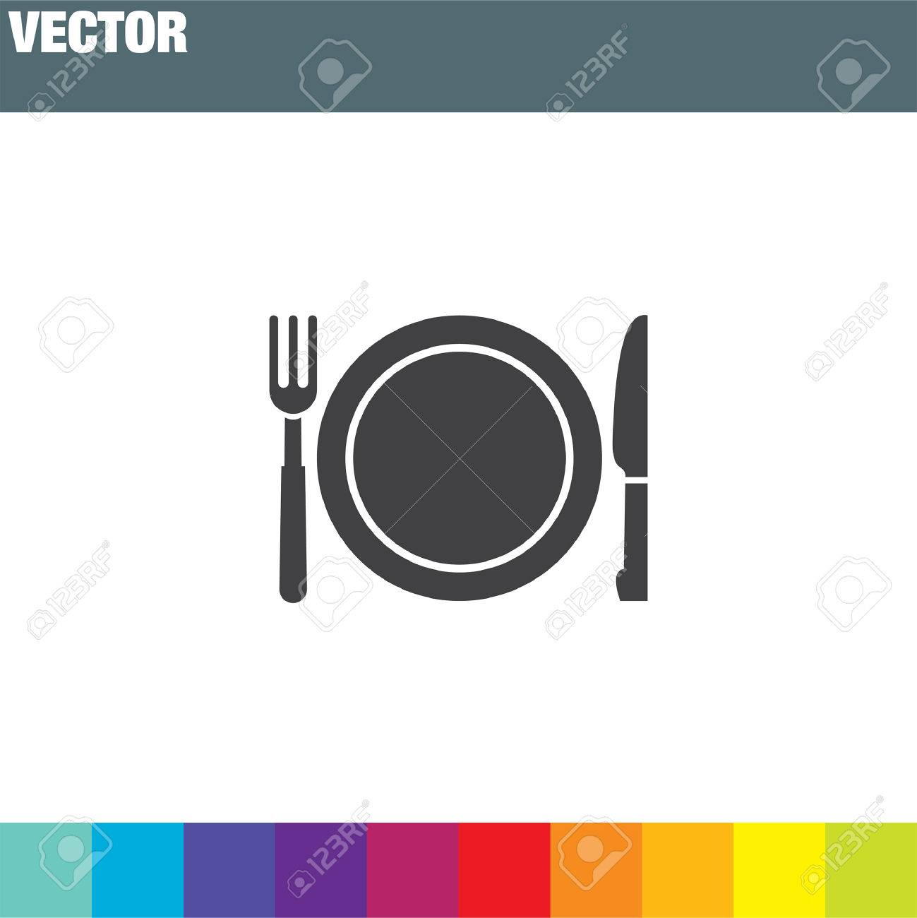 fork and knife menu vector icon - 53266240