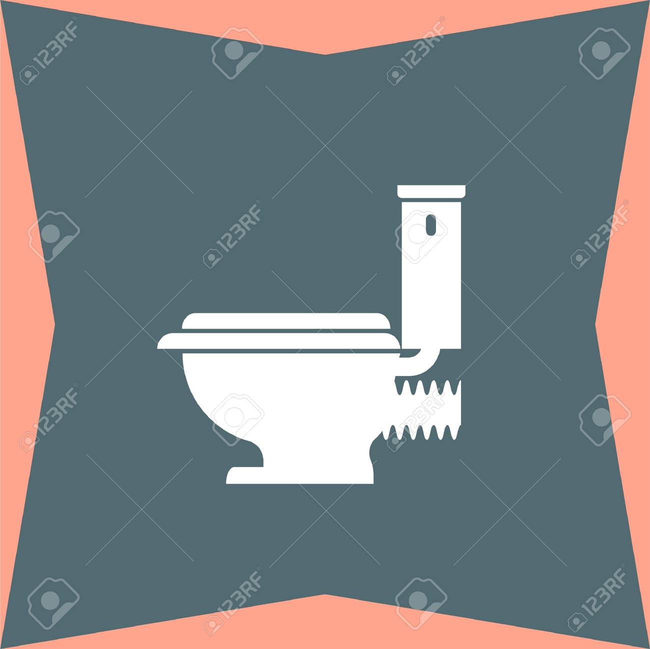 Toilet Seat Vector Icon Royalty Free Cliparts, Vectors, And Stock ...