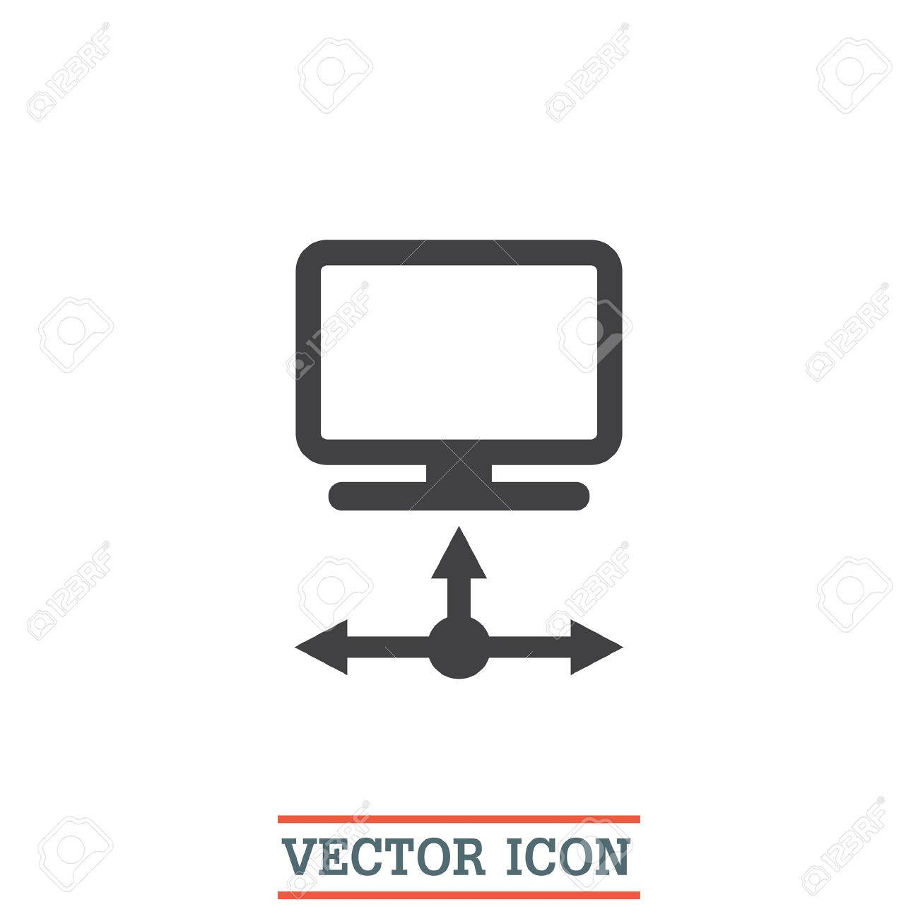 extreme networks visio stencils organizational structures examples 59231617 data transfer vector icon computer network sign lan - Computer Visio