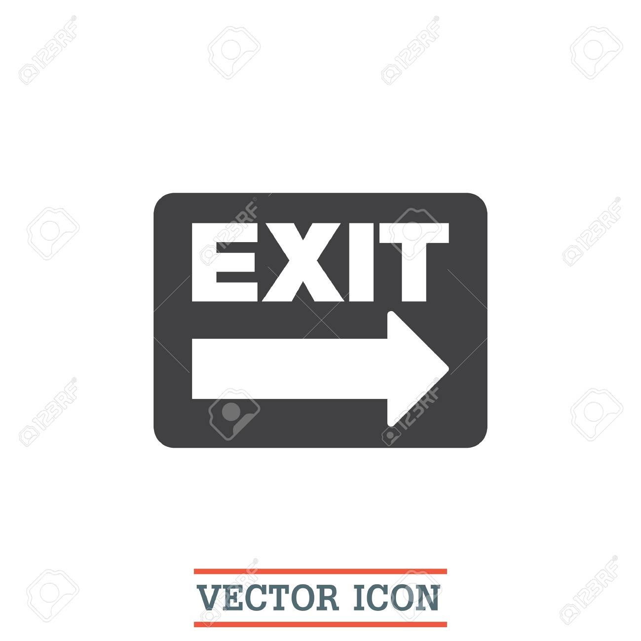 Exit Sign Vector Icon Festival Sign Gate Symbol Royalty Free