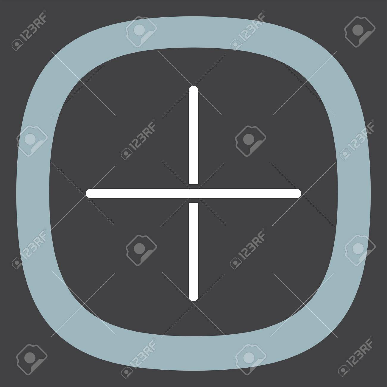 Plus Sign Line Vector Icon Add Ui Symbol Royalty Free Cliparts