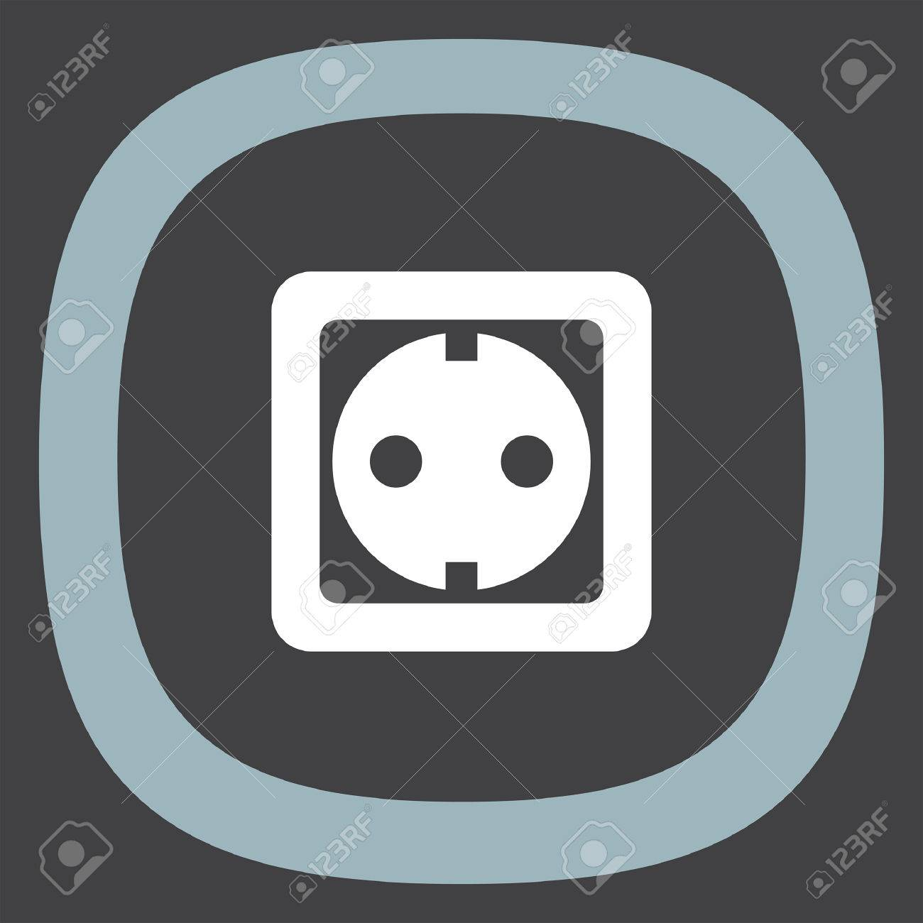 Power Socket Vector Icon. Electric Outlet Sign. Power Plug Symbol ...