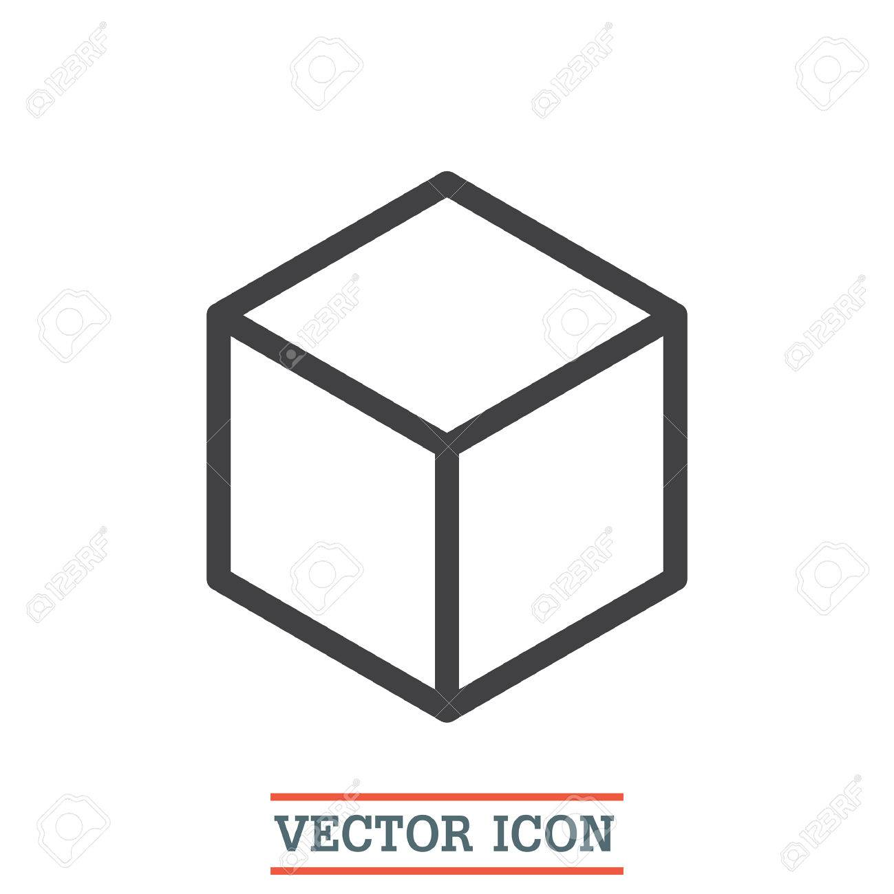 isometric cube vector icon 3d square sign box symbol royalty free rh 123rf com box vector model box vector free download