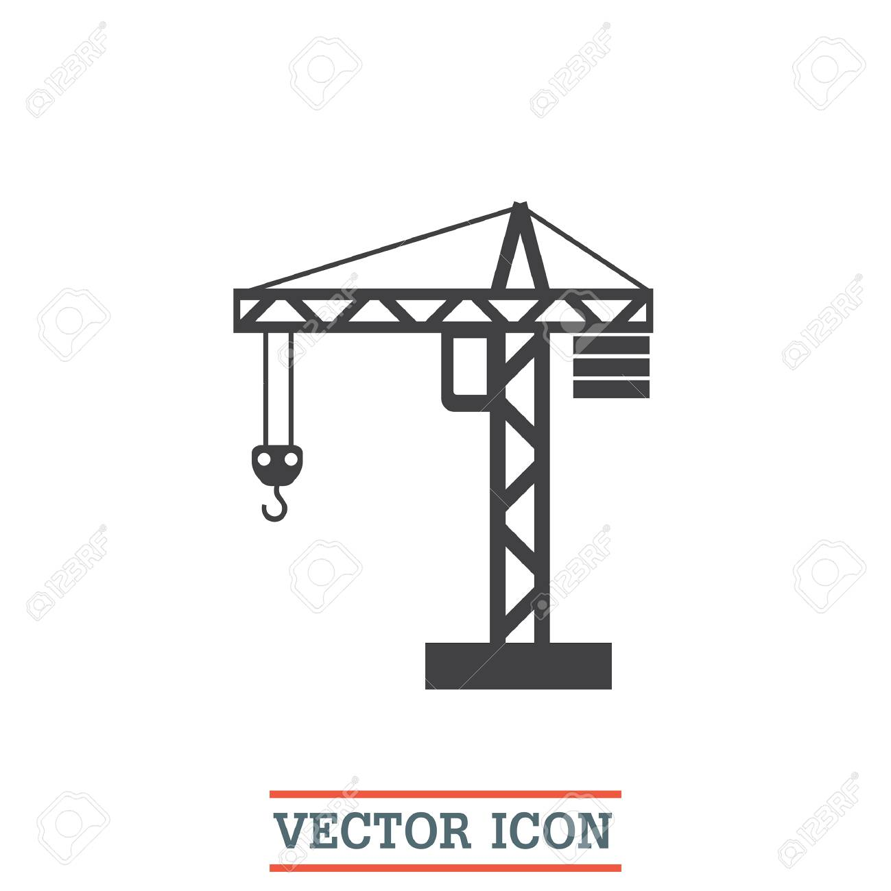 Crane Transparent Icon. Crane Symbol Design From Construction Co Stock  Vector - Illustration of machinery, transparency: 130318146