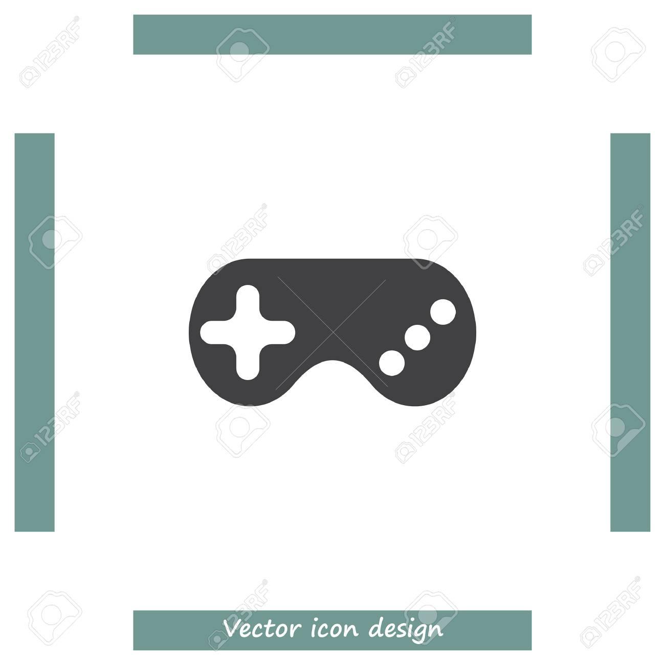 Game Controller Vector Icon Gamepad Sign Joystick Symbol Royalty