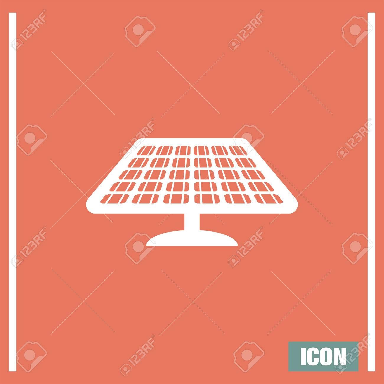 Solar Energy Panel Vector Icon Power Collector Sign Sun Energy