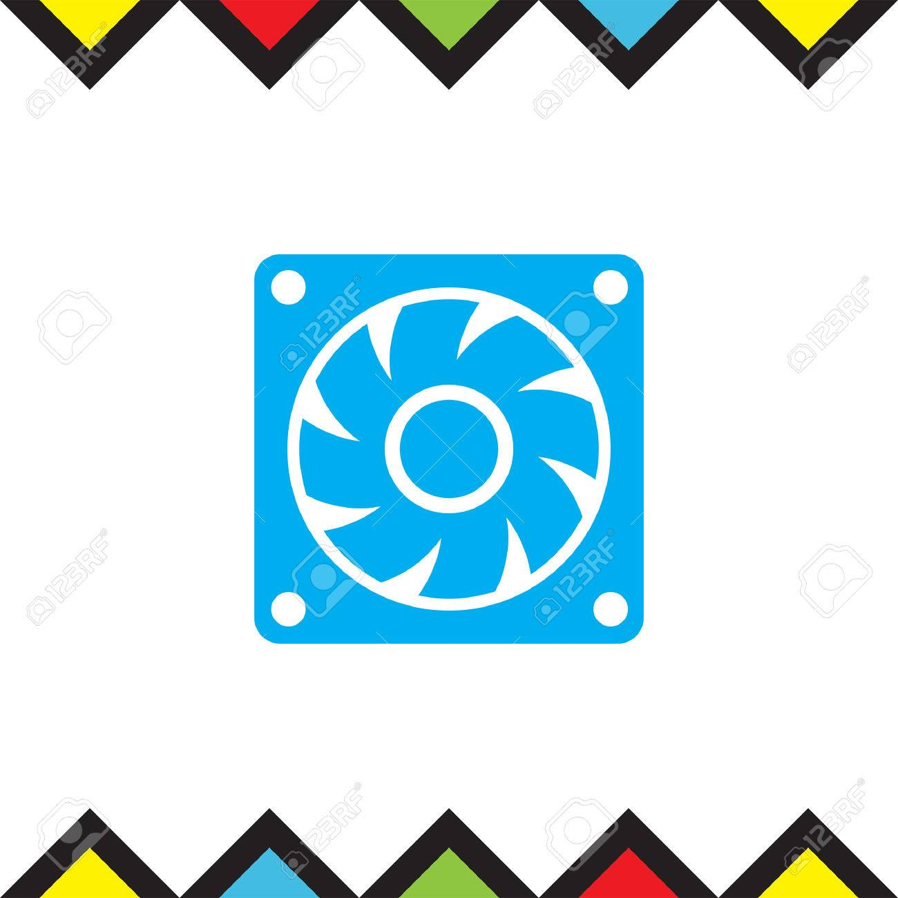 Unusual symbol for generator gallery electrical circuit diagram computer cooling fan vector icon pc cooler sign air generator buycottarizona Image collections