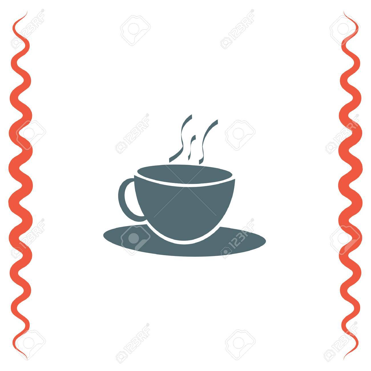 coffee cup vector icon hot drink sign tea cup symbol royalty free rh 123rf com tea cup vector art tea cup vector old
