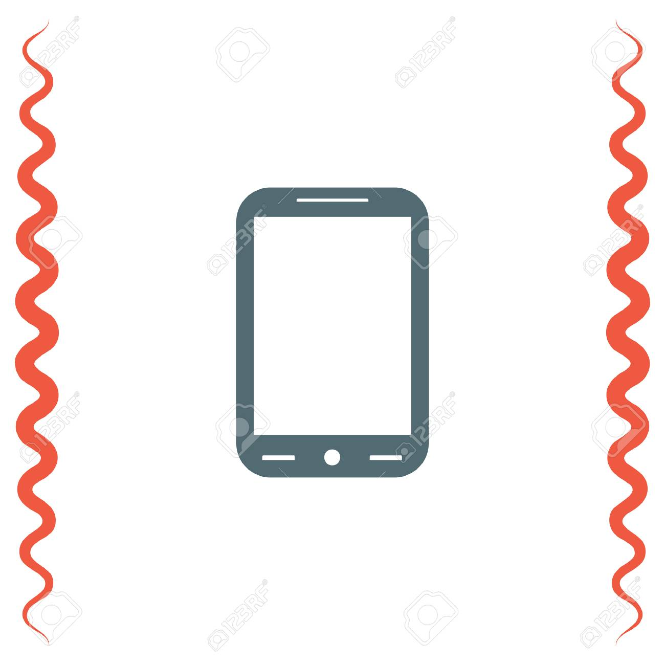 Smart Phone Vector Icon Cell Phone Symbol Royalty Free Cliparts