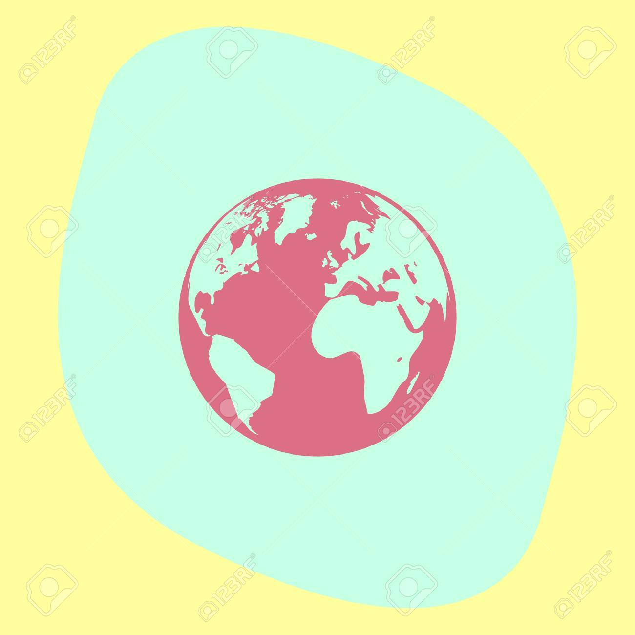 Earth Globe Icon Mother Earth Sign Planet Symbol Royalty Free