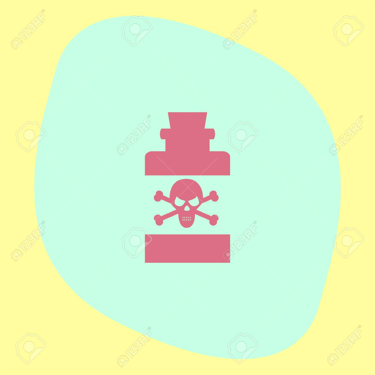 bottle with poison vector icon warning sign toxic danger symbol