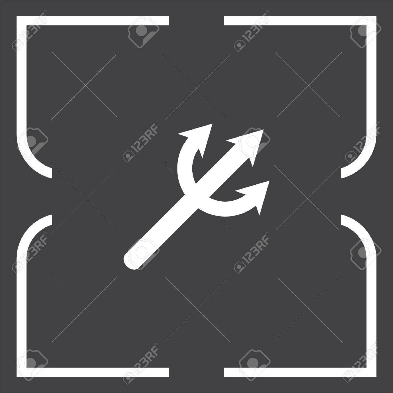 Devils trident vector icon poseidon weapon sign aqua park symbol poseidon weapon sign aqua park symbol stock vector 63417314 biocorpaavc Choice Image