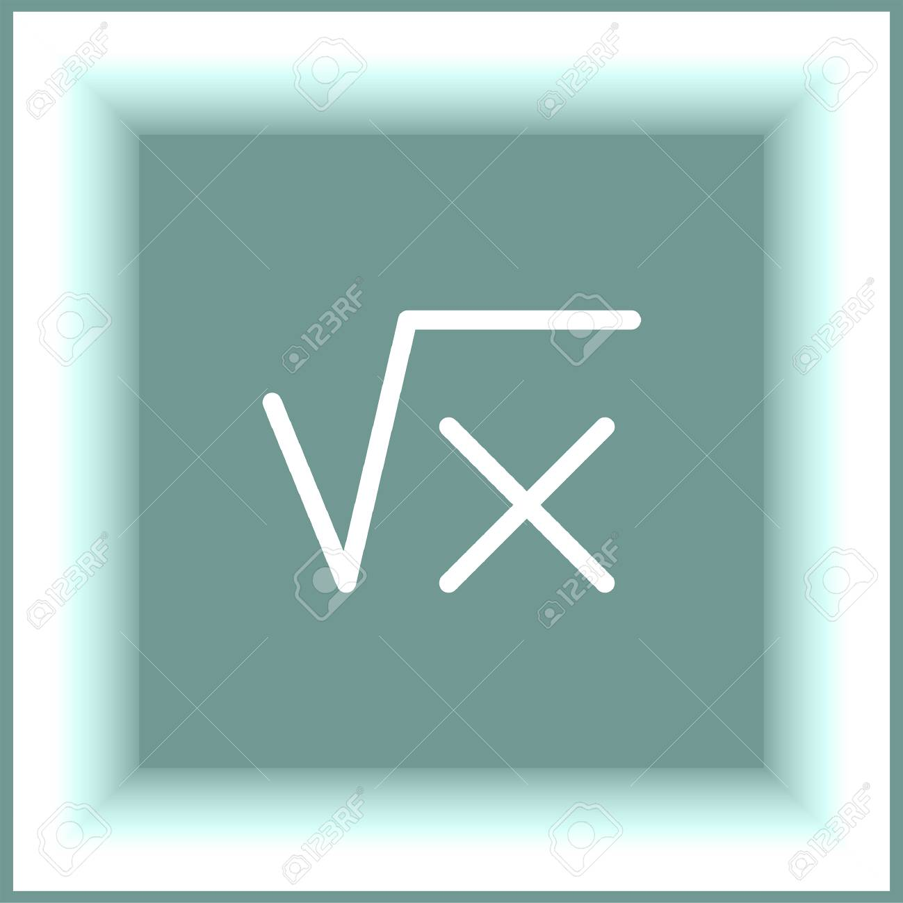Square Root Sign Line Vector Icon. Calculator Symbol. Math Sign ...