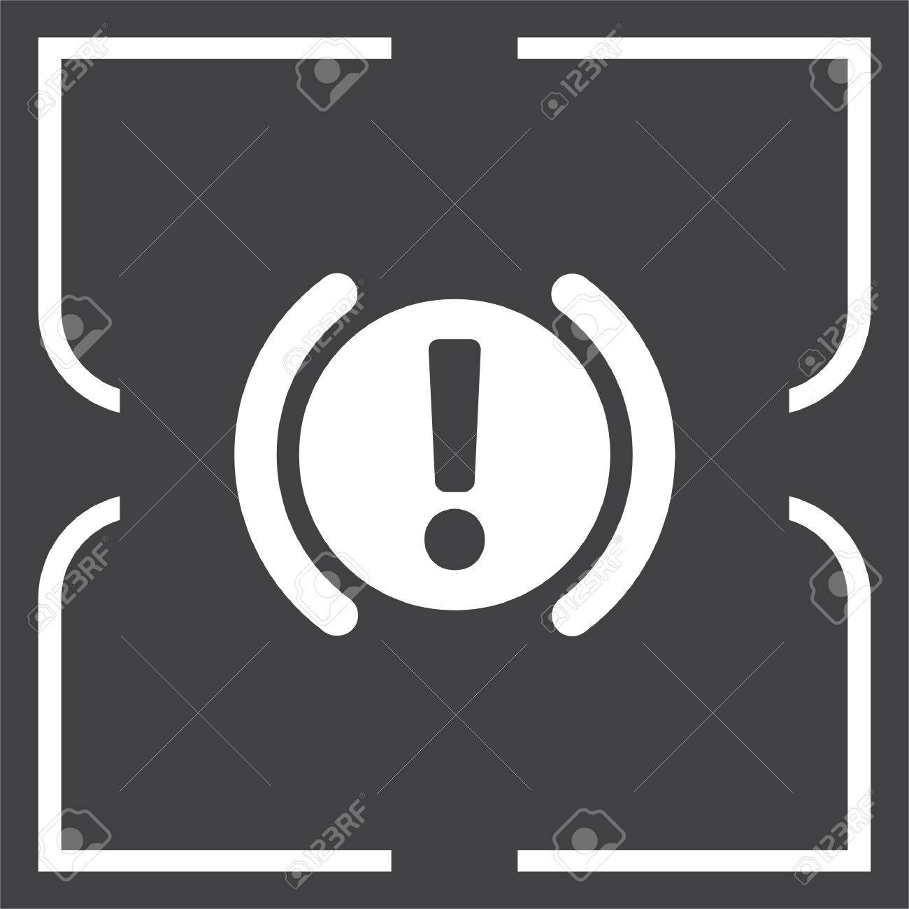Car Parking Brake Signal Vector Icon Attention Symbol Royalty Free
