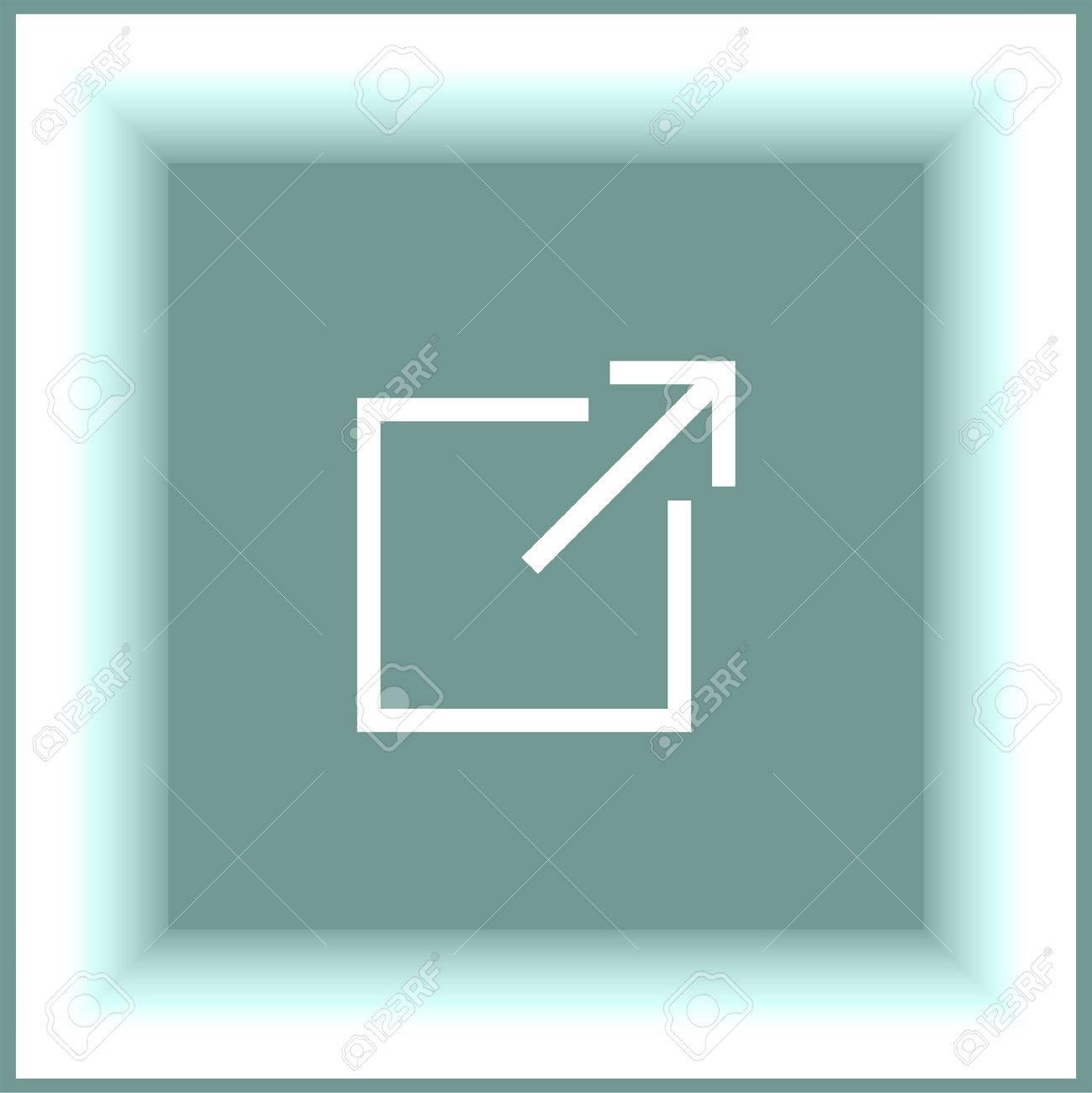 Neues Fenster Zeichen Linie Vektor-Symbol. Öffnen Sie Ein Anderes ...