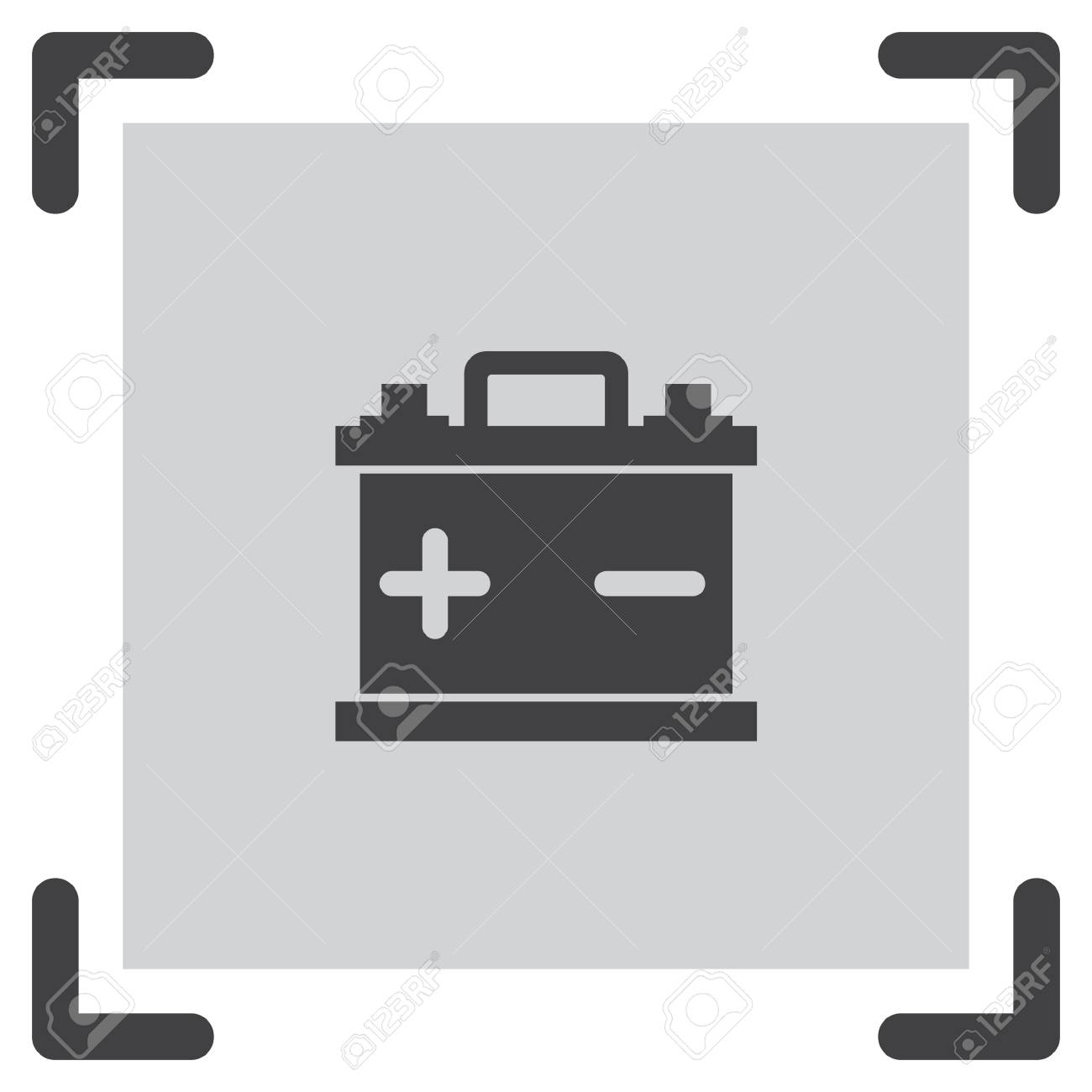 Car Battery Vector Icon. Energy Power Sign. Electricity Charge ...
