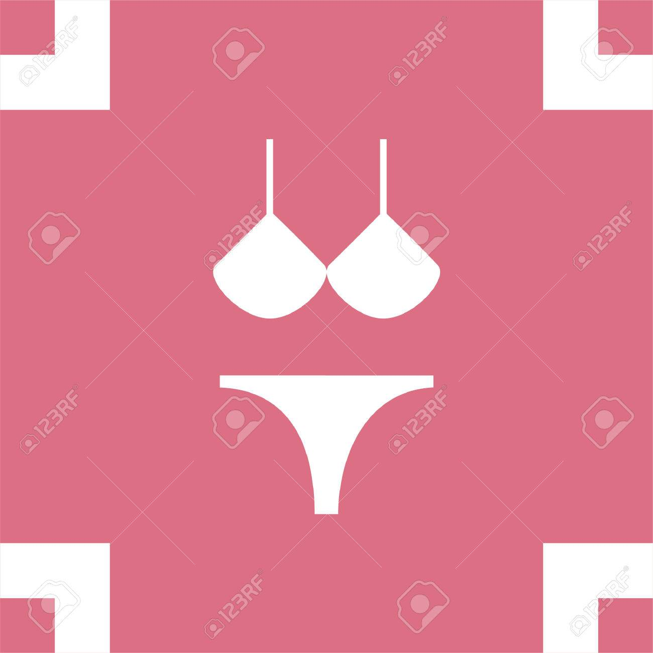 7c56fa8a63 Bikini vector icon. Women beach clothes sign. Summer vacation symbol. Stock  Vector -