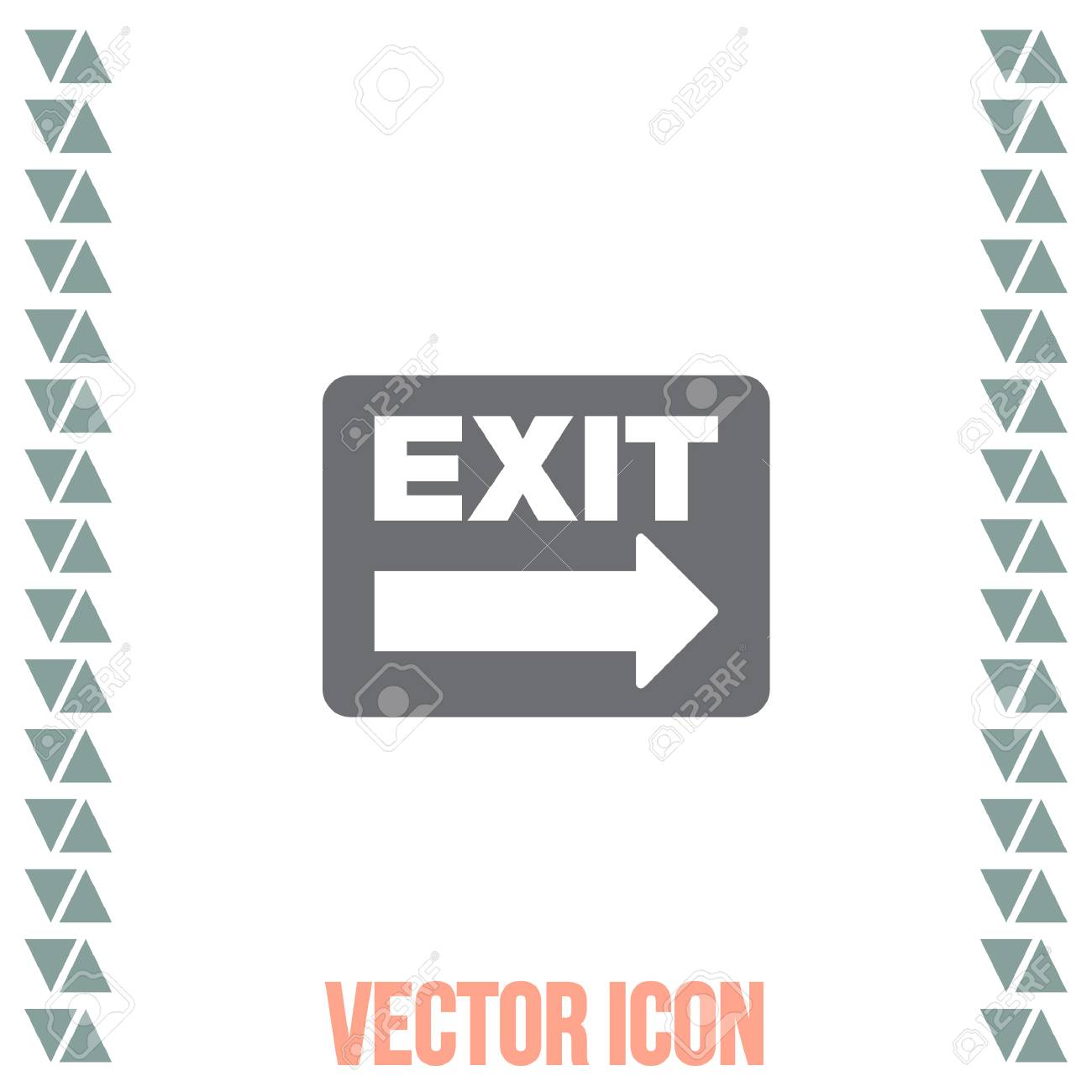 Exit sign vector icon festival sign gate symbol royalty free exit sign vector icon festival sign gate symbol stock vector 64701958 buycottarizona Images