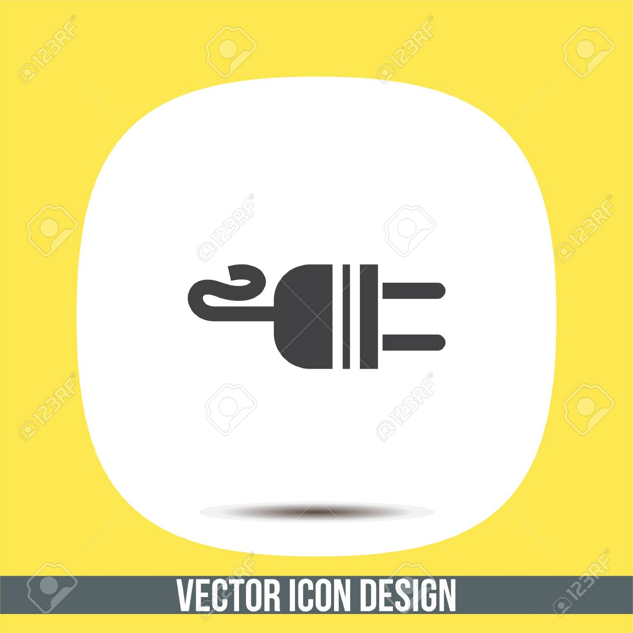 Electric AC Power Plug Vector Icon. Power Sign. Outlet Symbol ...